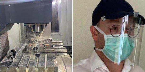 Une entreprise toulousaine s'est lancée dans la conception d'une protection faciale qu'il est possible de porter avec des lunettes et un masque.