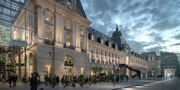 Rennes- Palais du Commerce: Citizers groupe Frey (mandataire), ENGIE (promoteur), MVRDV, Bernard Desmoulin (architecte)