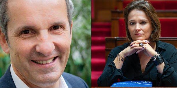 Pascal Demurger, directeur général du groupe Maif, et Olivia Grégoire, députée LREM de Paris, défendent tous les deux le développement de l'entreprise à mission.
