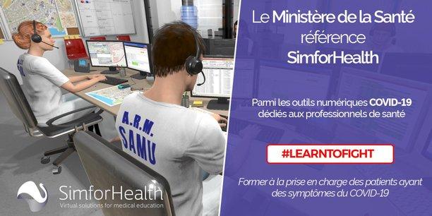 Simforhealth, à Bordeaux, fait partie des sociétés dont les solutions sont référencées sur le ministère de la santé dans le contexte du covid-19.
