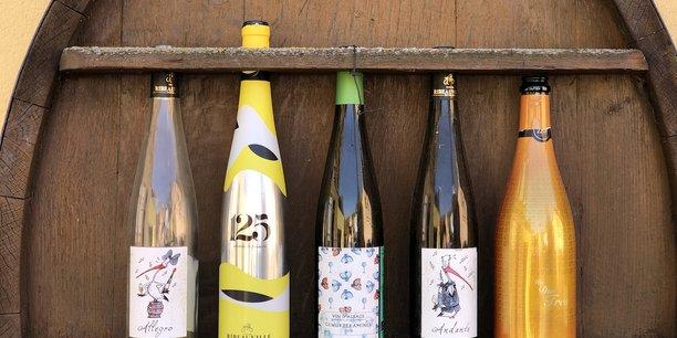 La flûte, forme traditionnelle de la bouteille d'Alsace.