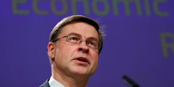 Eu commissioner dombrovskis addresses a news conference in brussels[reuters.com]