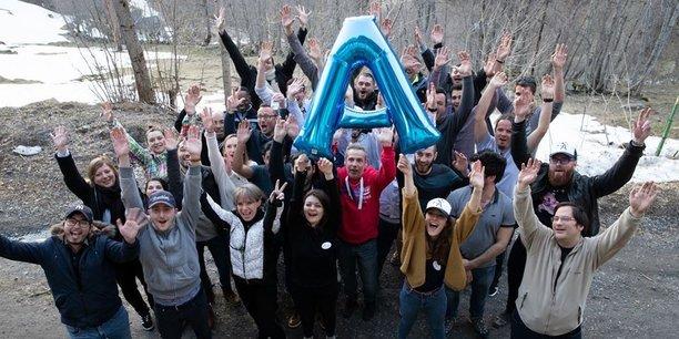 Une partie des équipes de l'entreprise bordelaise Alltech qui compte 180 collaborateurs dont 50 à Bordeaux.