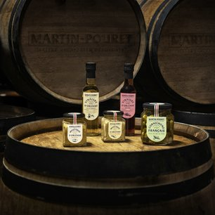 Composée de 10 recettes de moutarde, 30 vinaigres et 2 préparations de cornichons, la gamme Martin Pouret part à la conquête des Etats Unis.