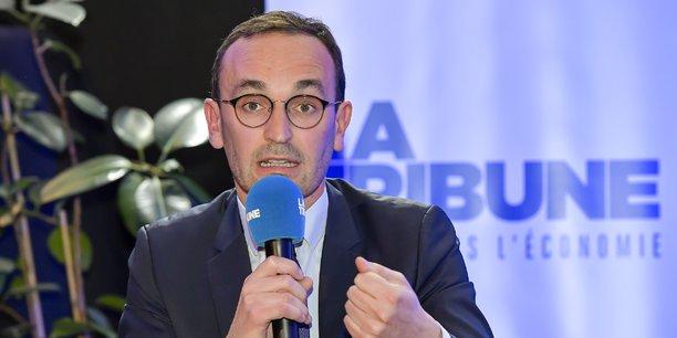 Thomas Cazenave, ici lors d'un débat organisé par la Tribune le 4 mars, est arrivé en 3e position lors du 1er tour de l'élection municipale à Bordeaux.