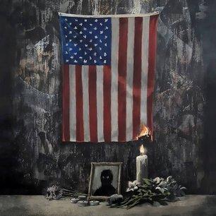 L'artiste banksy illustre le drapeau us prenant feu dans un hommage a george floyd[reuters.com]
