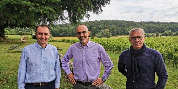 Benoit Lemaire, à gauche, et ses deux co-fondateurs d'Activ'Inside