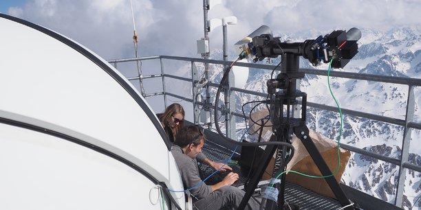Campagne d'essais au sol du viseur d'étoiles diurne (Sodern et Safran Electronics & Defense) au Pic du Midi