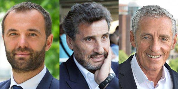 Trois candidats s'affrontent au 2e tour des élections municipales de Montpellier : Michaël Delafosse, Mohed Altrad et Philippe Saurel.