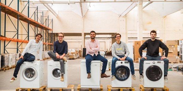 Les cinq cofondateurs de Murfy, entreprise de réparation de l'électroménager, ont décidé de s'implanter en Gironde début 2020.