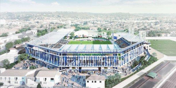 Le nouveau projet prévoit une augmentation des places, une couverture des trois tribunes et une meilleure interconnexion entre elles.