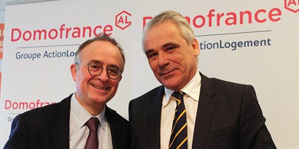 Francis Stéphan, directeur général, et Philippe Rondot, président de Domofrance