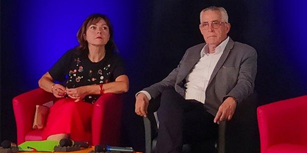 La présidente de la Région Occitanie Carole Delga apporte son soutien à Jean-Marc Pujol dans la bataille pour conserver la mairie de Perpignan face à Louis Aliot.