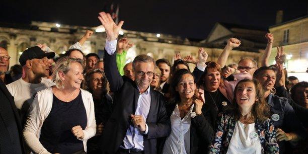 Avec 46,48 % des suffrages, Pierre Hurmic a été élu maire de Bordeaux dimanche 28 juin 2020.