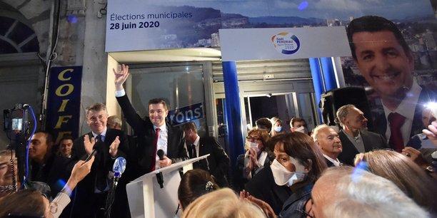 Gaël Perdriau au soir de sa réélection à la mairie de Saint-Etienne
