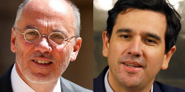 Stéphane Richard, le PDG d'Orange (à gauche), et Sébastien Soriano, le président de l'Arcep.