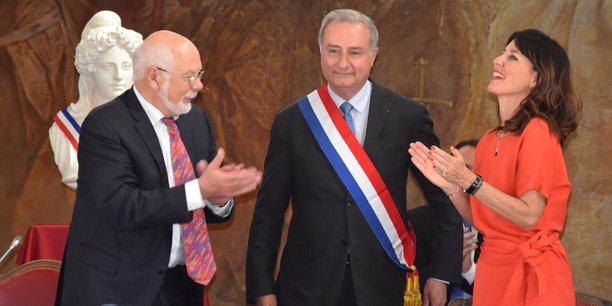 Jean-Luc Moudenc a été élu officiellement maire de Toulouse, vendredi 3 juillet, à l'issue d'un conseil municipal.
