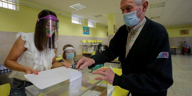 Premiers scrutins depuis l'apparition du coronavirus en espagne[reuters.com]