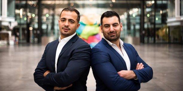 Walid Behar et Amine Bounoughaz, fondateurs de la startup Edbridg.