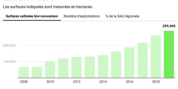 Avec près de 290.000 hectares, l'agriculture biologique représente désormais 7,4 % de la surface agricole utile en Nouvelle-Aquitaine. (Crédits : MG / La Tribune)