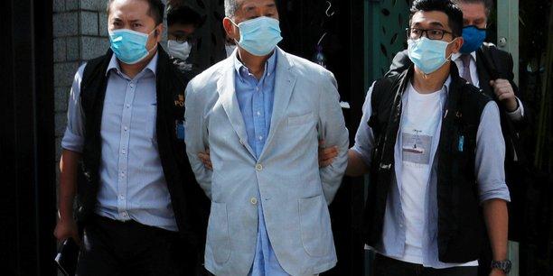 Hong kong: arrestation du patron de presse et activiste jimmy lai[reuters.com]