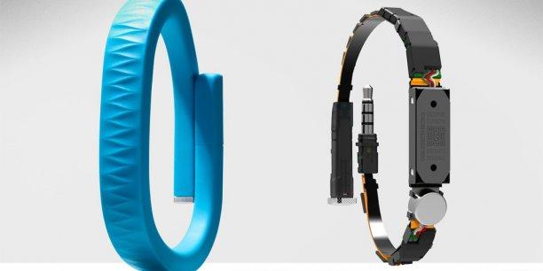 Le bracelet Up, produit phare de la startup de San Francisco Jawbone, est bourré de capteurs.
