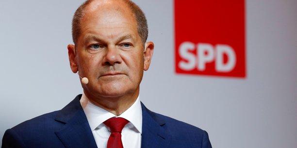 Olaf Scholz, candidat à la chancellerie du SPD