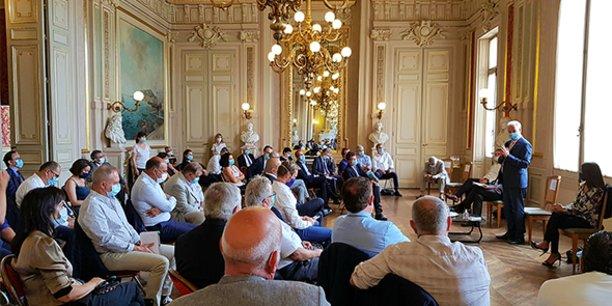 Le 28 août 2020, Alain Griset, ministre délégué chargé des PME, était en déplacement à Montpellier pour rencontrer des chefs d'entreprises et évoquer avec eux la simplification administrative.