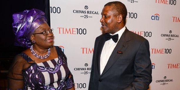 Ngozi Okonjo Iweala, en lice pour la direction générale de l'OMC, obtient le soutien d'Aliko Dangote.