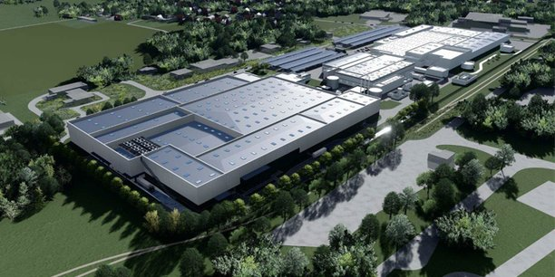 Image de synthèse du futur site pilote ACC à Nersac, en Nouvelle-Aquitaine.