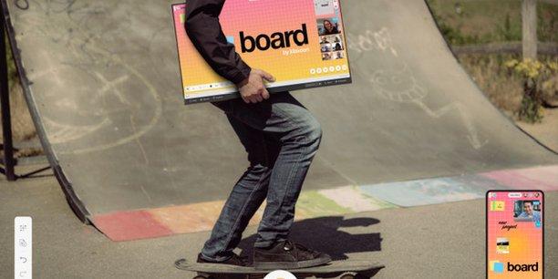 Board s'enrichit de nouveaux « vecteurs sensoriels » permettant la personnalisation et la libre mise en forme de tous types de contenus (textes, images, photos, vidéos). Sur site ou à distance, les équipes peuvent réagir, s'exprimer et interagir avec des likes, des votes, des questions. L'heure est à la fluidité et aux réunions dites augmentées.
