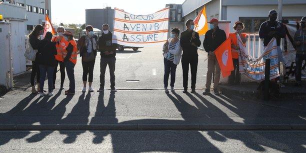 Une cinquantaine de salariés s'étaient rassemblés début septembre devant le site toulousain de AAA.