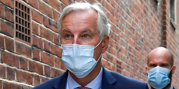 Le négociateur en chef pour le Brexit, Michel Barnier (ci-dessus à Londres le 10 septembre 2020) qui comme la Commission européenne s'est pas non plus exprimé après le vote du Parlement britannique, doit faire le point sur la situation mercredi avec les États-membres.