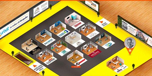 Les organisateurs du salon de l'immobilier de Montpellier ont développé une plateforme numérique accueillant la première version online de la manifestation.