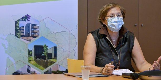 Muriel Boulmier lors de la présentation du Manifeste pour la relance