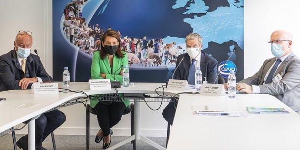 Alain Rousset, Christelle Morançais, Marc Prikazsky et Alain Schrumpf
