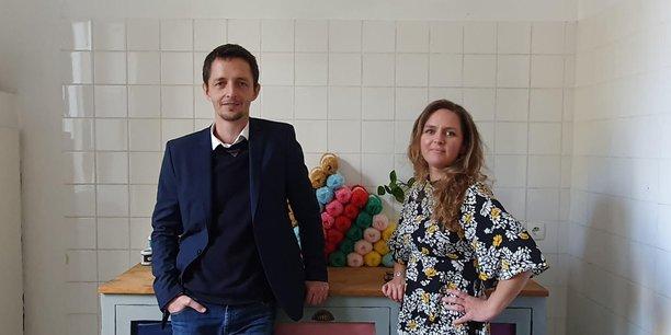 Charles d'Auber et Marion Billier, fondateurs de youdoit.fr à Bordeaux.