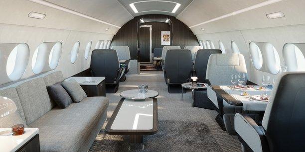 Airbus a imaginé un nouvel avion d'affaires pour des trajets intercontinentaux.
