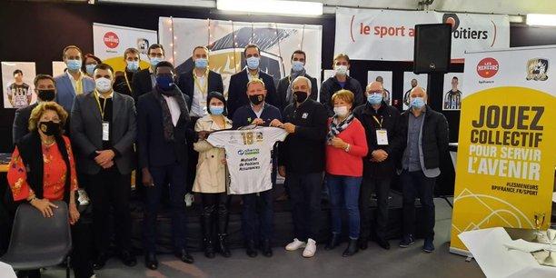 Conférence de presse d'avant-match du Stade Poitevin Volley Beach, en présence de Patrice Bégay, directeur de la communication de Bpifrance
