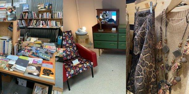A partir du 31 octobre, des vêtements, chaussures, des livres et des objets de décoration sélectionnés par Le Relais Gironde, Le Livre Vert et l'Atelier d'Eco Solidaire seront vendus dans une boutique éphémère de la galerie marchande d'Auchan à Bordeaux Lac.