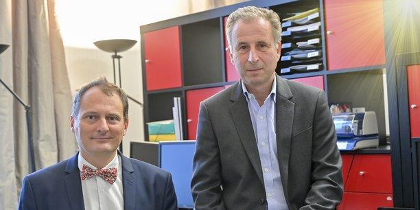 Sébastien Hénin, directeur général d'Alienor Capital, et Arnaud Raimon, président et fondateur