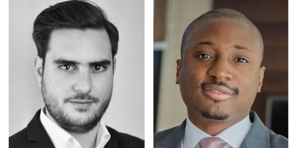 Clément Rossi, directeur des Partenariats et desrelationsextérieures de CEIS, et Franck Kié, CEO de CiberObs.