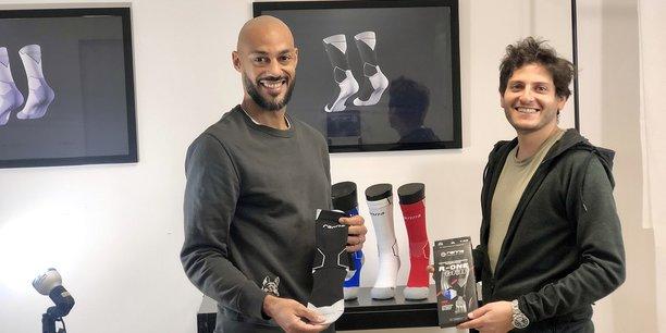 Cédric Kanté et Alexandre Adler, fondateurs de Ranna à Strasbourg. L'entreprise s'est lancée dans la fabrication de chaussettes pour les footballeurs.