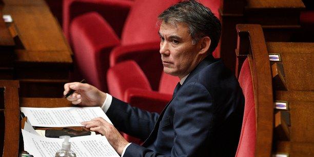Nous avons une période qui est très angoissante pour les Françaises et les Français, on n'est pas obligé d'y rajouter l'incompétence et l'impréparation permanente de ce gouvernement, a déclaré lundi sur France 2 Olivier Faure, premier secrétaire du PS (ici en photo sur les bancs de l'Assemblée en avril 2020).