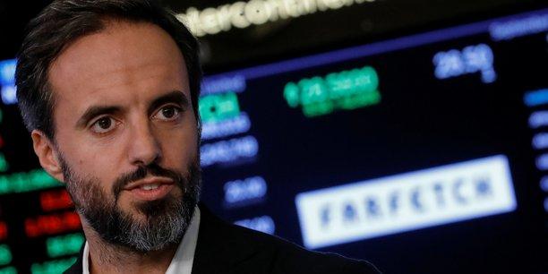 Jose Neves, le Pdg de Farfetch, lors de l'introduction en Bourse de sa startup britannique à la Bourse de New York (NYSE) le 21 septembre 2018.