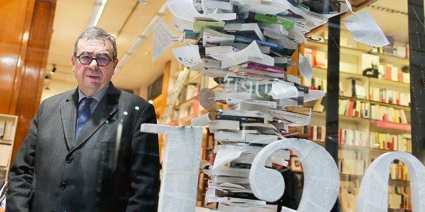Denis Mollat lors du 120e anniversaire de la librairie familiale