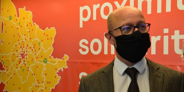 Jean-Luc Gleyze, président du conseil départemental de Gironde, lors de la conférence de presse de ce 16 novembre.