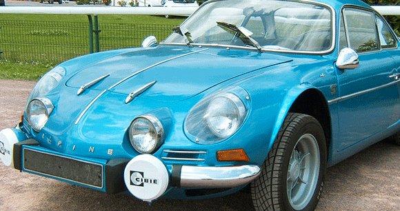 La fameuse berlinette Alpine de la fin des années 60-début 70.