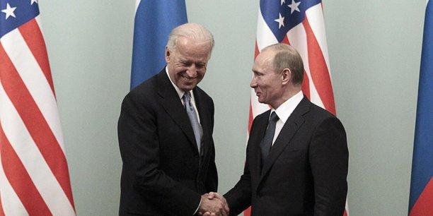 Joe Biden, vice-président des États-Unis en 2011, en visite officielle à Moscou.
