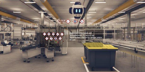 Studio Nyx a créé un jumeau numérique de l'usine Martell de Cognac pour la formation des opérateurs notamment aux règles de qualité et sécurité environnement.